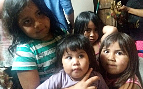 Visita à aldeia Kaingang.