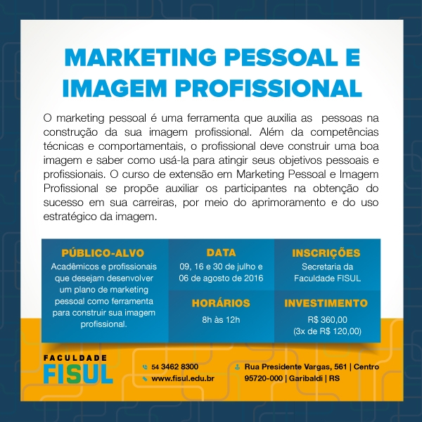 Marketing Pessoal e Imagem Profissional