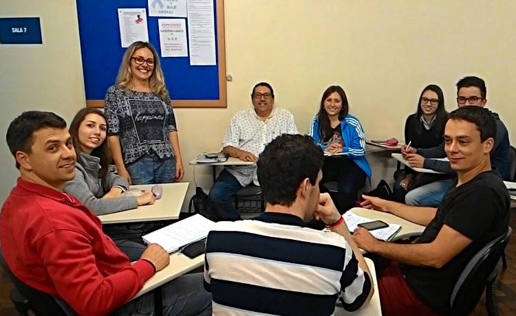 Márcia Rachele empolgou os alunos em sala de aula