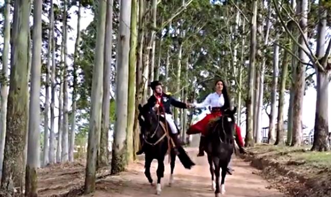 """Cena do vídeo de """"Trem Bala"""" de Capitão Faustino"""
