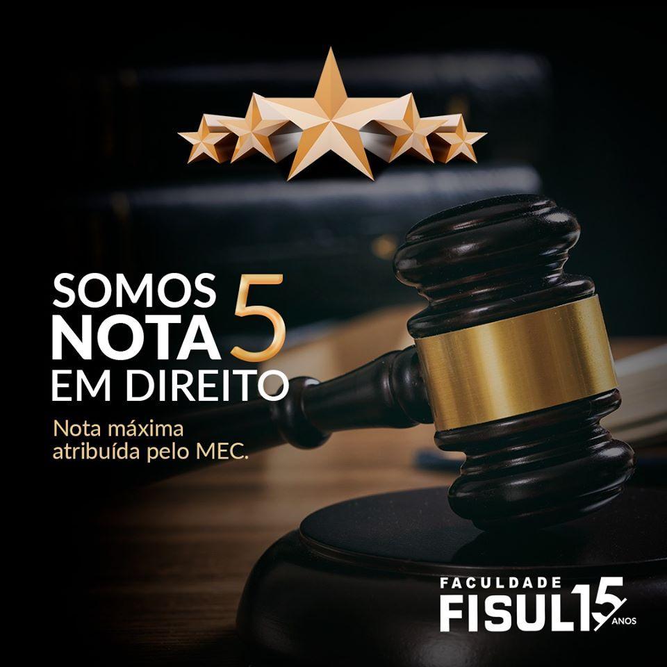 FISUL conquista nota 5 no reconhecimento do curso de Direito