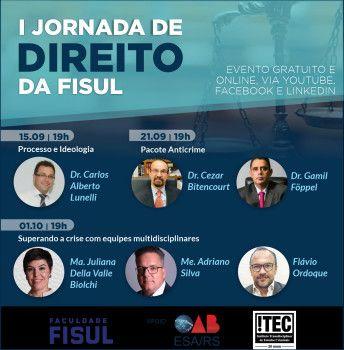 Faculdade FISUL realiza a I Jornada de Direito